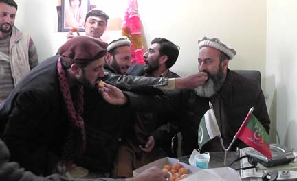 PTI Chitral celebrates party's election victory in GB