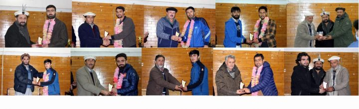 Football players awarded for bringing laurels to Chitral