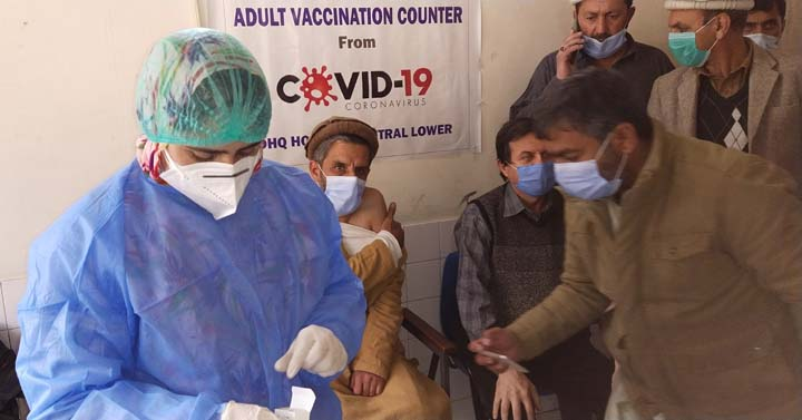 Vaccination of health workers begins in Lower Chitral