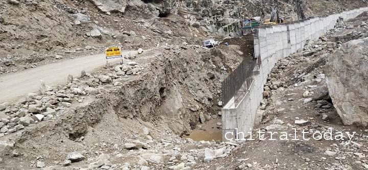 Work on Lowari tunnel approach roads stopped
