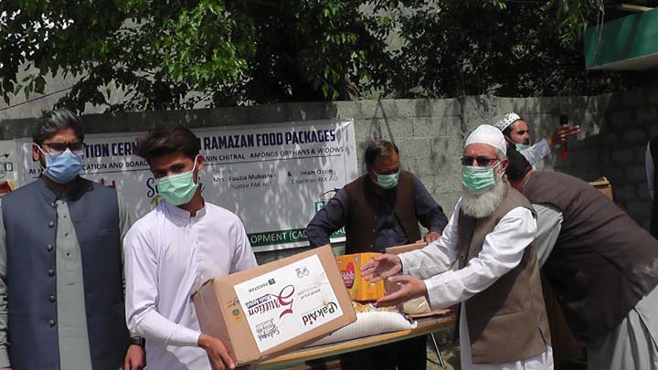 Rations distributed by NGO