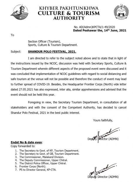 No Shandur festival for second year