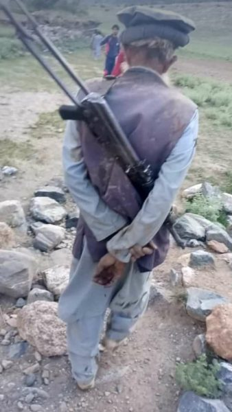 Madaklasht: a gunman roaming here after a clash