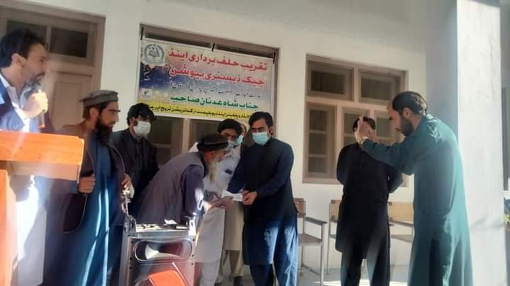 Cheques distributed among rain affectees